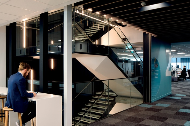"""""""The main stairs are transparent and designed to encourage people to walk and talk, rather than take the lift."""""""
