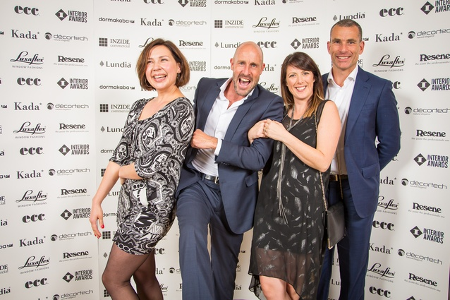Anna Lyubchikova, Alan Bunce, Amy Armstrong and Dave White (Interior Awards sponsor Kada).