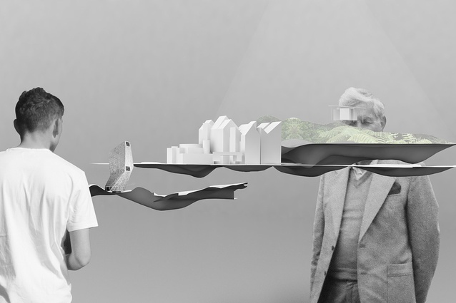 A render of <em>Future Islands</em>, New Zealand's national exhibition at the 2016 Venice Architecture Biennale.