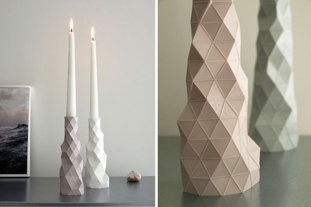 The base of the vase is weighted to ensure stability when used as candleholder.