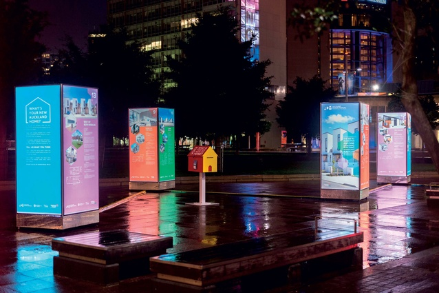 The New Auckland Home exhibition in Aotea Square.