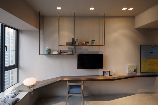 While the basic layout of the apartment was pre-determined by the building's typology, [the architect] was charged with ensuring that the interior flow supported a quotidian Chinese routine.