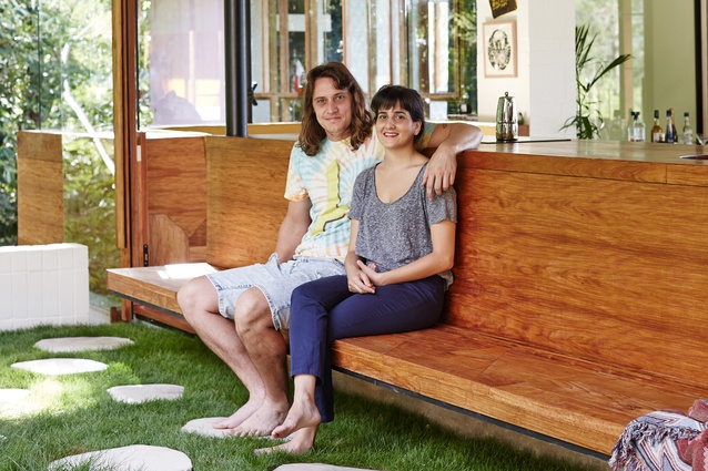 The brains behind the Australian House of the Year 2015, Jesse Bennett and Anne-Marie Campagnolo