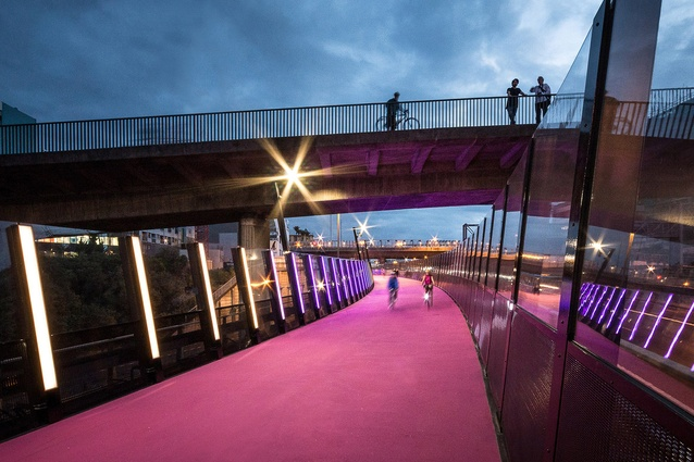 Completed Buildings Transport category winner: #LightPathAKL by Monk Mackenzie Architects + LandLab, Auckland.