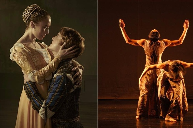 There are three dance shows at the festival: <em>Romeo and Juliet</em> (left), <em>Beyond Calligraphy</em> (right) and <em>The Absurdity of Humanity</em> (not pictured).