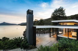 Contoured journey: Moetapu Bay Beach House