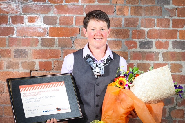Winner of the Tradeswoman of the Year: Carmen Sutton of McIntosh Builders.