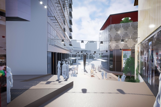 A render of Awa Lane in the proposed Civic Quarter.