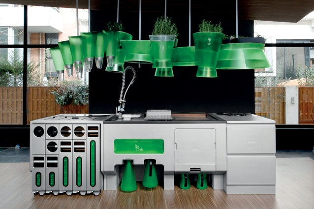 The Ekokook kitchen, manufactured by the French company Faltazi.