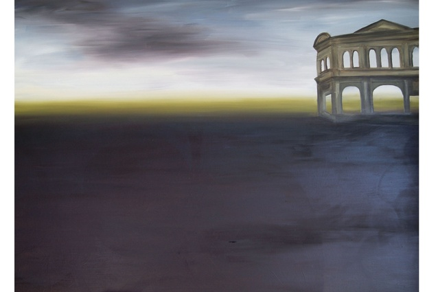 <em>Illusory Space</em>, oil on canvas, 2012.