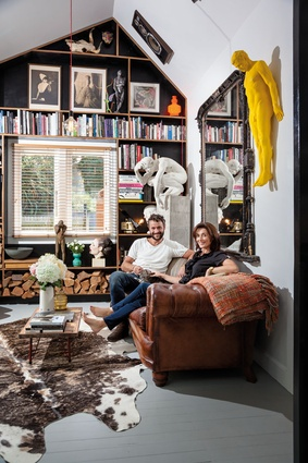 Max Patté and Amy Fitzgerald at home.