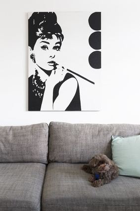 Audrey Hepburn painting: Purchased during a favourite holiday in Bali and after an extremely persistent sales pitch, it has come to remind them of a great time and some wonderful people.