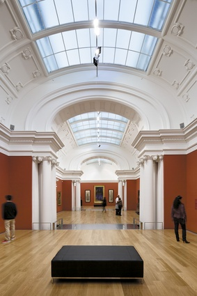A glazed roof in the restored 1916 East Gallery brings light into the exhibition space.