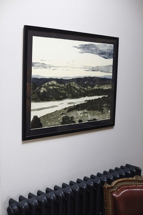 """""""I love this painting. It's of the view on the way to Whakapura in the Far North, where my family used to have a bach."""""""