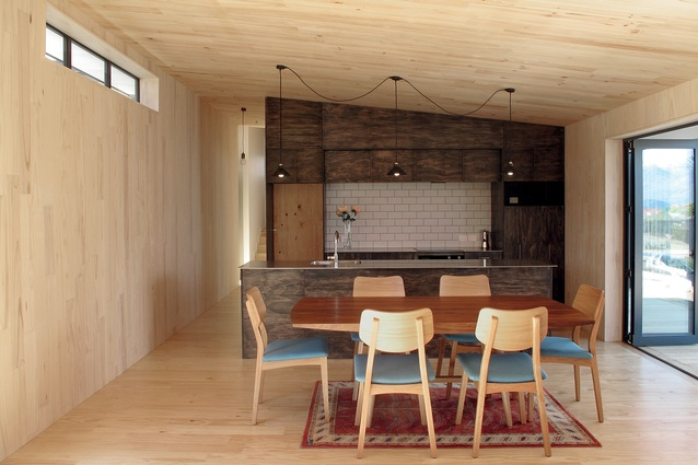 The interior fit-out of this house in Wanaka also used Makers of Architecture's digital fabrication and construction methodology.