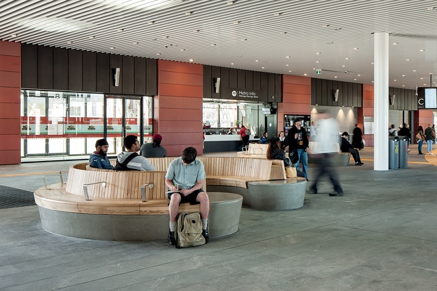 Timber seating is distributed throughout 