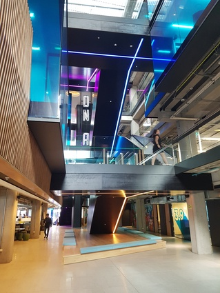 Warren and Mahoney was responsible for the redesign of TVNZ's interior, revisiting a space the firm originally designed some 26 years ago.
