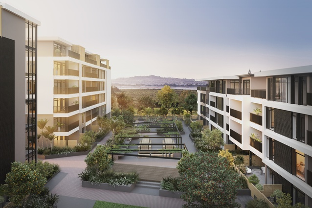 Render of the ASC Architects-designed apartments to be built at Market Cove.